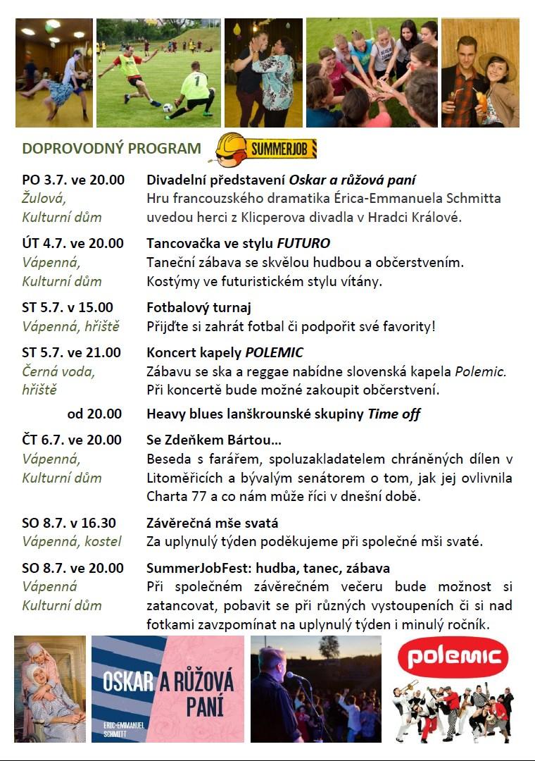SummerJob 2017 program